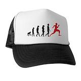 Running evolution Trucker Hats