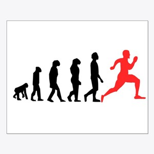 Running Evolution Poster Design