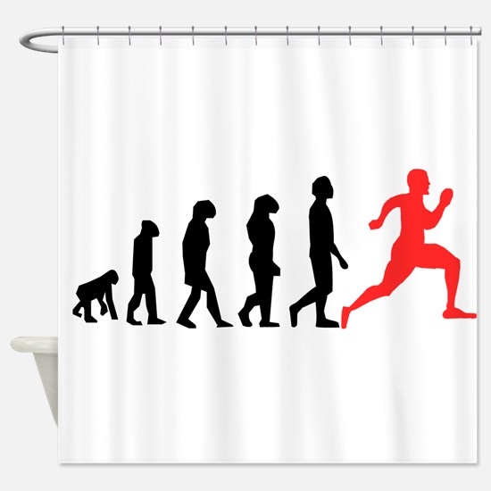 Running Evolution Shower Curtain