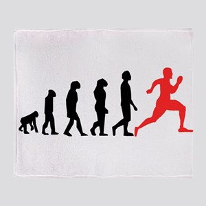 Running Evolution Throw Blanket