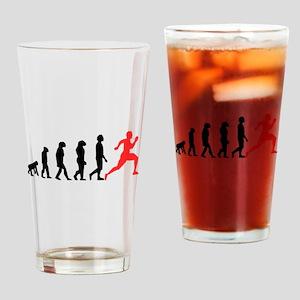 Running Evolution Drinking Glass