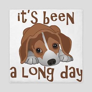 Long Day Beagle Puppy Queen Duvet