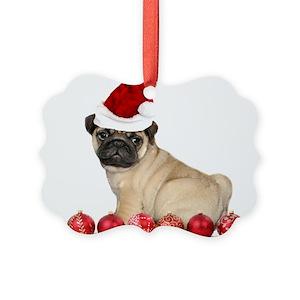 pug ornaments cafepress