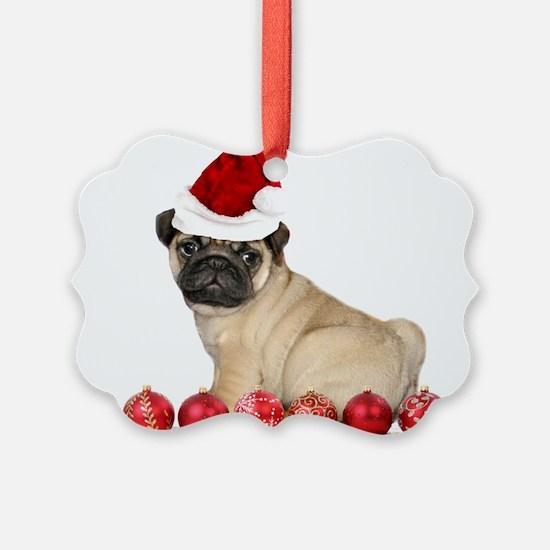 Christmas pug dog Ornament