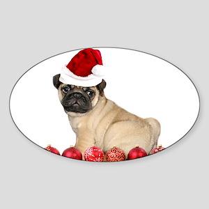 Christmas pug dog Sticker