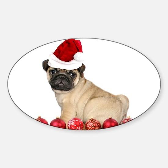 Christmas pug dog Decal