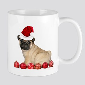Christmas pug dog Mugs