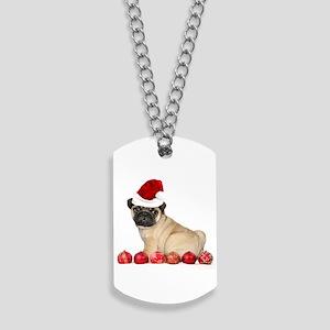Christmas pug dog Dog Tags