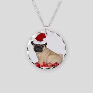Christmas Pug Dog Necklace