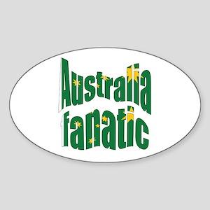 Australia fanatic Oval Sticker