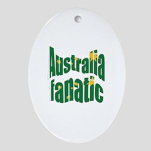 Australia fanatic Oval Ornament