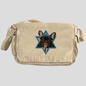 Hanukkah Star of David - Frenchie Messenger Bag