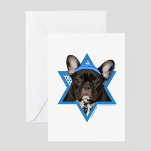 Hanukkah Star of David - Frenchie Greeting Card