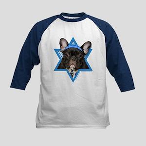 Hanukkah Star of David - Frenchie Kids Baseball Je