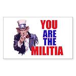 You Are The Militia Sticker 3X5 10-Pack