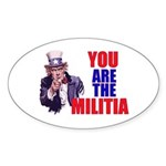 You Are The Militia Oval Stickers 50-Pack