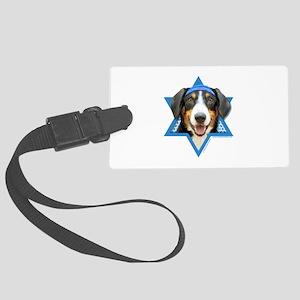 Hanukkah Star of David - Bucher Large Luggage Tag