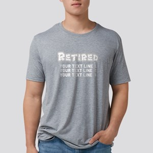 Retirement Text Personalize Mens Tri-blend T-Shirt