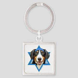 Hanukkah Star of David - Bucher Square Keychain