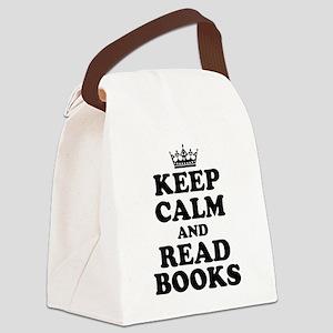Keep Calm Read Books Canvas Lunch Bag