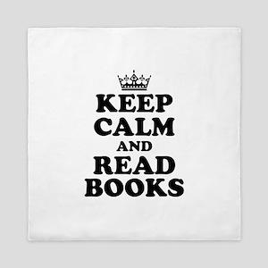 Keep Calm Read Books Queen Duvet