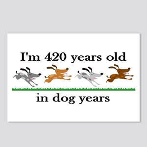 60 birthday dog years 2 Postcards (Package of 8)