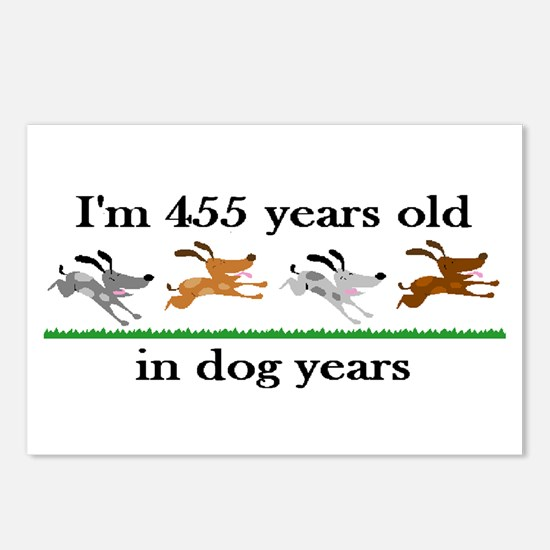 65 dog years birthday 2 Postcards (Package of 8)