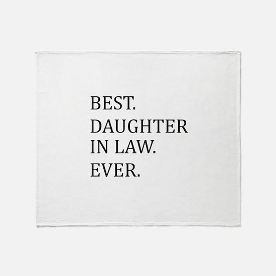 Best Daughter in Law Ever Throw Blanket