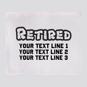 Retirement Text Personalized Throw Blanket