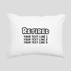 Retirement Text Personal Rectangular Canvas Pillow