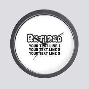 Retirement Text Personalized Wall Clock