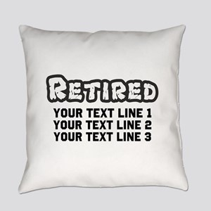 Retirement Text Personalized Everyday Pillow