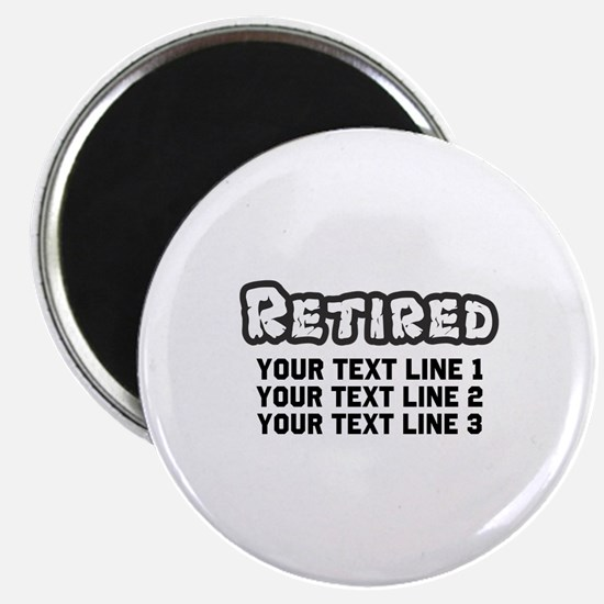 "Retirement Text Personalize 2.25"" Magnet (10 pack)"