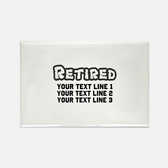 Retirement Text Personalized Rectangle Magnet
