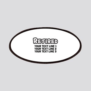 Retirement Text Personalized Patch