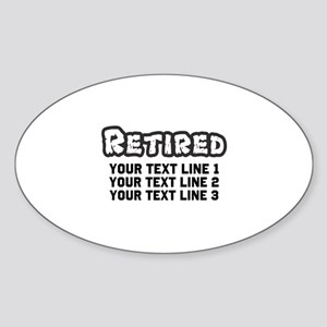 Retirement Text Personalized Sticker (Oval)