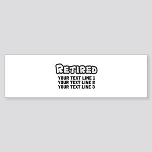 Retirement Text Personalized Sticker (Bumper)