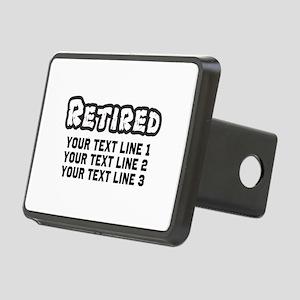 Retirement Text Personaliz Rectangular Hitch Cover