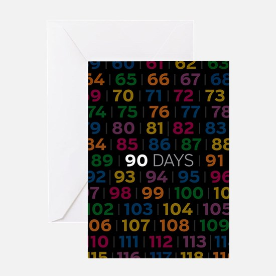 A.a. Anniversary Card: 90 Days Greeting Cards