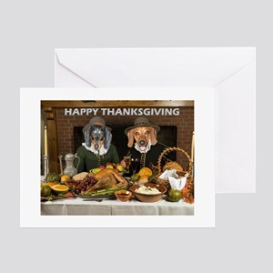 Thanksgiving Dinner Doxies 2 Greeting Card