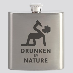 Drunken By Nature (Alcohol Party) Flask