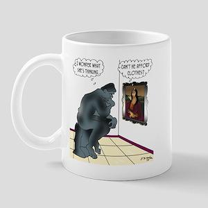 The Thinker & Mona Lisa's Thoughts Mug