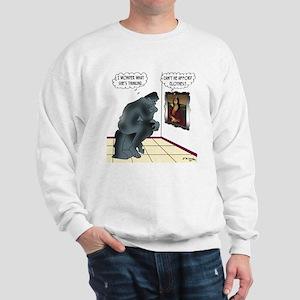 The Thinker & Mona Lisa's Thoughts Sweatshirt
