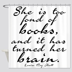 Too Fond of Books Shower Curtain