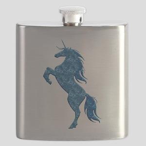 Blue Fire Unicorn Flask