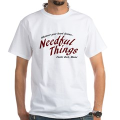 Needful Things (LRD #7) White T-Shirt