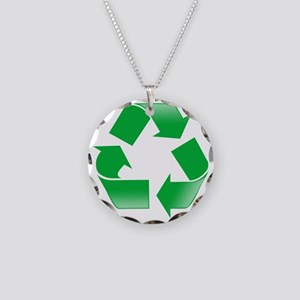 CLASSIC RECYCLE SYMBOL Necklace Circle Charm