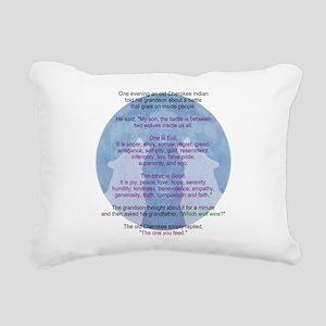 Wolf Wisdom Rectangular Canvas Pillow