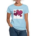 Love Hearts Art Women's Pink T-Shirt Valentines