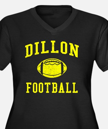 Dillon Footb Women's Plus Size Dark V-Neck T-Shirt